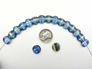 Swarovski 5107 Bermuda Blue 10mm Rare Vintage Pagoda Beads (1 right, 1 Left)