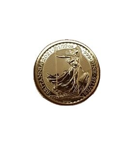 .999 Fine Silver 1/10th Troy Ounce Oz Britannia Coin - Hard To Find Round.