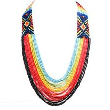 """30"""" HANDMADE MIXED COLORS RAINBOW LAYERED SEED BEADS necklace"""