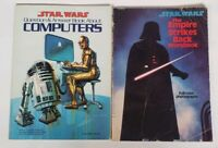 Lot Of 2 1980's Vintage Star Wars Books Computers Empire Strikes Back Storybook
