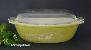 Vintage Agee (Australian) Pyrex Colonial Horse&Cart Spanish Olive Oval Casserole