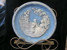"VINTAGE SHAKESPEARE ""SHALL I COMPARE THEE"" Ltd Ed TOURMALINE BLUE CAMEO STONE"