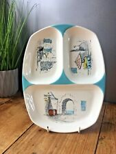 More details for rare retro midwinter stylecraft cannes hugh casson 3 sectioned serving dish mcm