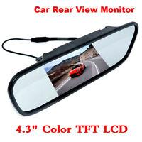 """4.3"""" TFT LCD Monitor Car Rear View System Backup Reverse CAMERA Night Vision Car"""
