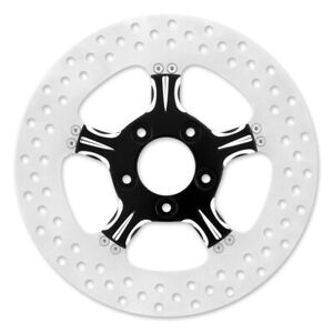 """XM 0133-3015XFRS-BMP Fierce 13"""" Black Xquisite Front Brake Rotor 2000-15 Harley"""