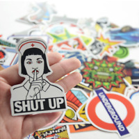 50 Retrosticker Stickerbomb Cartoon ärztin rock Aufkleber Sticker Mix Decals