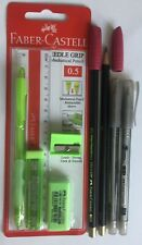 Brand New Green Faber-Castell Needle Grip Stationery Set