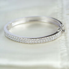 Cubic Zirconia Baby Bangle, Christening Gift, Sparkling Baby Bracelet (26D1)