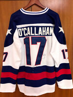 Jack O'Callahan #17 1980 Miracle On Ice USA Men's Hockey Jersey White Stitched