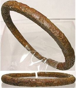 Genuine Ancient Roman Judaea Phoenician Palestine Israel Bronze Bangle 100AD