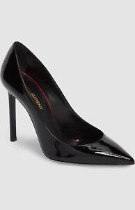 $595 Saint Laurent Women Black Patent Leather Pump Heels Shoes Size EU 36/US 6