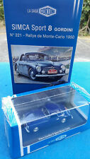 Atlas, Saga Gordini - SIMCA Sport 8 Gordini #221 Monte-Carlo 1950 + Fascicule