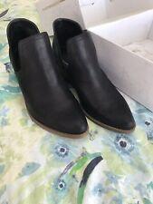 Ladies Black Lipstick Ankle Boot