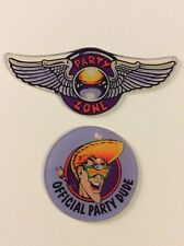 1991 Bally Party Zone Party Dude & Pinball Wings Promo Keychain Set FOB