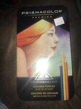 Prismacolor Premier, Colored Pencils, Soft Core, 12 Count, Tin Case, New