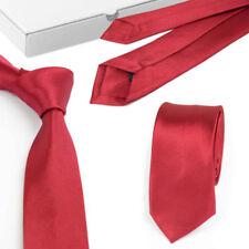 Men's Tie Classic Black Blue Red 2 Inch 100% Silk Satin Plain Formal Necktie I