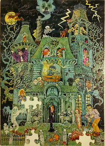 Springbok House on Haunted Hill Vintage 100 pc Jigsaw Puzzle Missing 3 PZL-1075