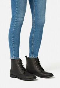 Kassy Lace-up Ankle Boot Black UK Size 4 VR191 03