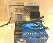 Minolta DiMage Xt Digital Camera Iob, 3 Batteries, Charger and Manuals, works