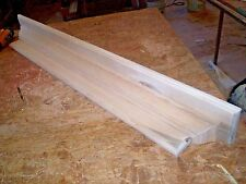 SOLID PINE 60 INCH WALL SHELF / MANTEL WITH CROWN MOLD WRAP, HANGING HARDWARE