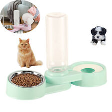 Pets Cat Dog Food Feeder Dish Bowl Automatic Water Dispenser Bottle Drinking