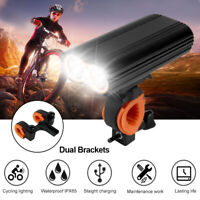 2400 Lumens USB Rechargeable Bike Light Set Bicycle Lights Bike Headlight Front