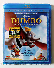 Dumbo Classic Disney Animated Masterpiece Blu-ray & DVD English French Spanish