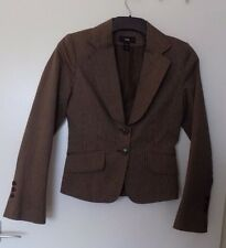 H&M  Size EUR 34 approx UK 8 - 10 GORGEOUS BROWN STRIPE JACKET  NEW