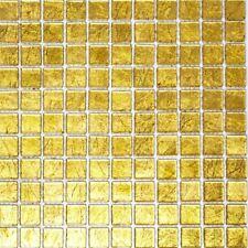 Glasmosaik Mosaikfliese Goldmosaik Mosaikmatte Mosaikplatte WB120-0782 | 1 Matte