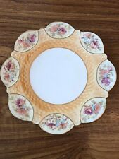 Aynsley Rare HTF Victorian Fluted Plate No 334579 Floral Design Circa 1880-1891