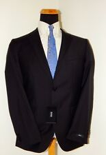 NWT HUGO BOSS BLACK LABEL BLACK PINSTRIPE GRAND / CENTRAL US MENS SUIT 42L 36W