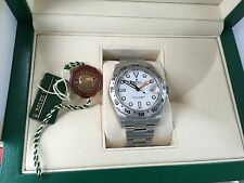 Rolex Explorer II 2 216570 42MM Stainless Steel Professional Watch White dial