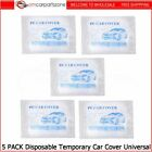 Universal Clear Plastic Temporary Disposable Car Cover Rain Garage Protection Us