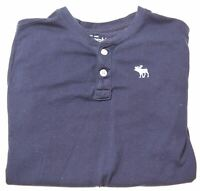 ABERCROMBIE & FITCH Boys T-Shirt Top 13-14 Years Large Blue Cotton  O007