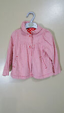 BEAUTIFUL MOTHERCARE RED & WHITE SUMMER JACKET/COAT - AGE 24-36 MONTHS -
