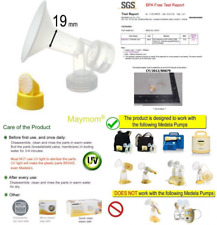 Maymom Breast Shield W/Valve And Membrane For Medela Breast Pumps (19 Mm,