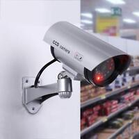 CAMERA FAKE LED OUTDOOR INDOOR DUMMY SECURITY CCTV SURVEILLANCE RED CAM