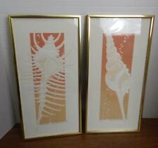 1982 Figi Giftware Framed Signed Venus Comb & Tibia Roy Williams Embossed Prints