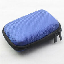 Blue Storage Hard Case Bag Holder For SD TF Card Earphone Headphone Earbuds UK1