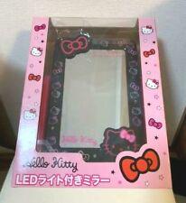 Hello Kitty Sanrio Genuine Mirror with LED light(Black color ver.) Very Rare F/S