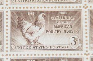 1948 sheet - Poultry Industry - Sc# 968