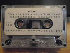 VERY RARE Bloom DEMO CASSETTE TAPE rock UNRELEASED 1991 unknown L.A. 3 tracks !