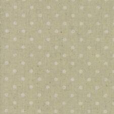 Moda Fabric Homegrown Linen Blend Mochi Dot Sand - Per 1/4 Metre