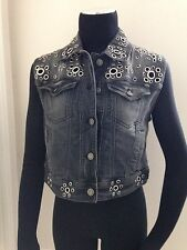 GALLIANO STUDDED DENIM VEST - NWT SIZE IT 40 / US 6