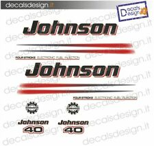 Adesivi motore marino fuoribordo Johnson 40  cv four stroke efi gommone barca
