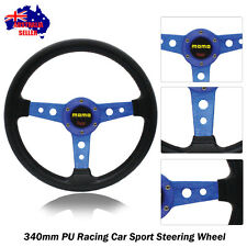 340mm Tuning BLUE Sport Steering Wheel with Horn Button