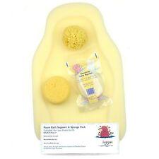 Hygan Newborn Baby Bathing Foam Bath Support & Sponge Pack