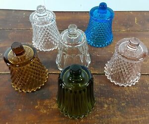 Votive Cups Lot of 6 Homco Home Interior Crystal Clear Glass Blue Green Amber