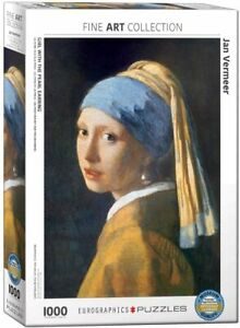 Girl With The Pearl Earring Jan Vermeer 1000 piece jigsaw 680mm x 490mm (pz)