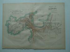 1913 MAPA Plano de La Coruña Benito Chias y Carbo (Spain Map España Spagna)